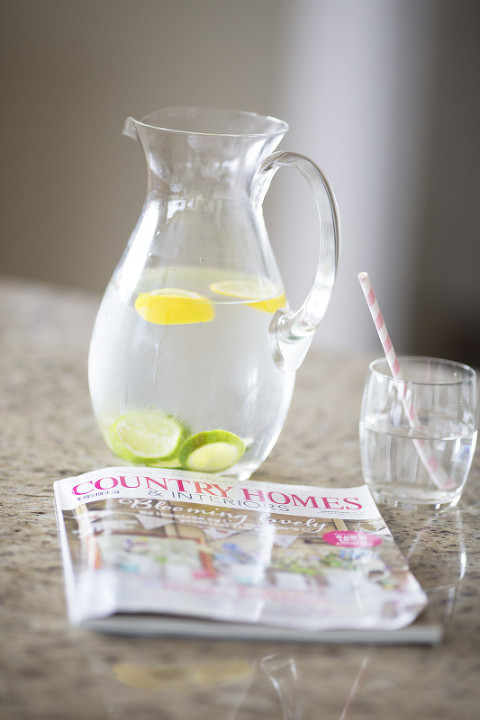 Jug of Lemon and Lime Water