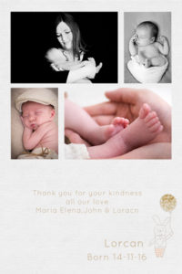 newborn thank you card