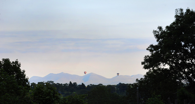 Hot Air Balloon over co.down Northern Ireland