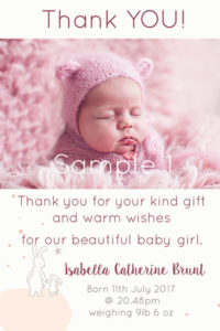 Thank you cards sample 1
