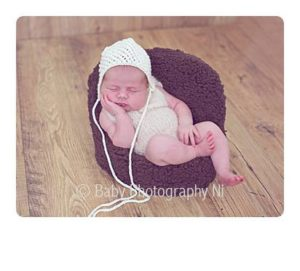 Newborn baby posing chair